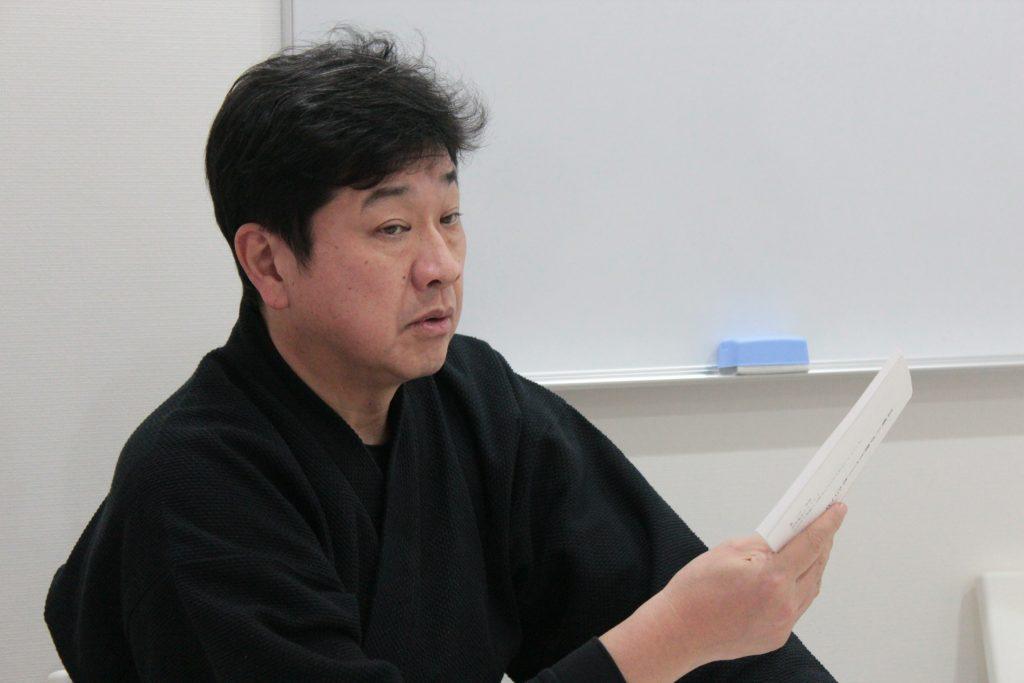 西田講義中
