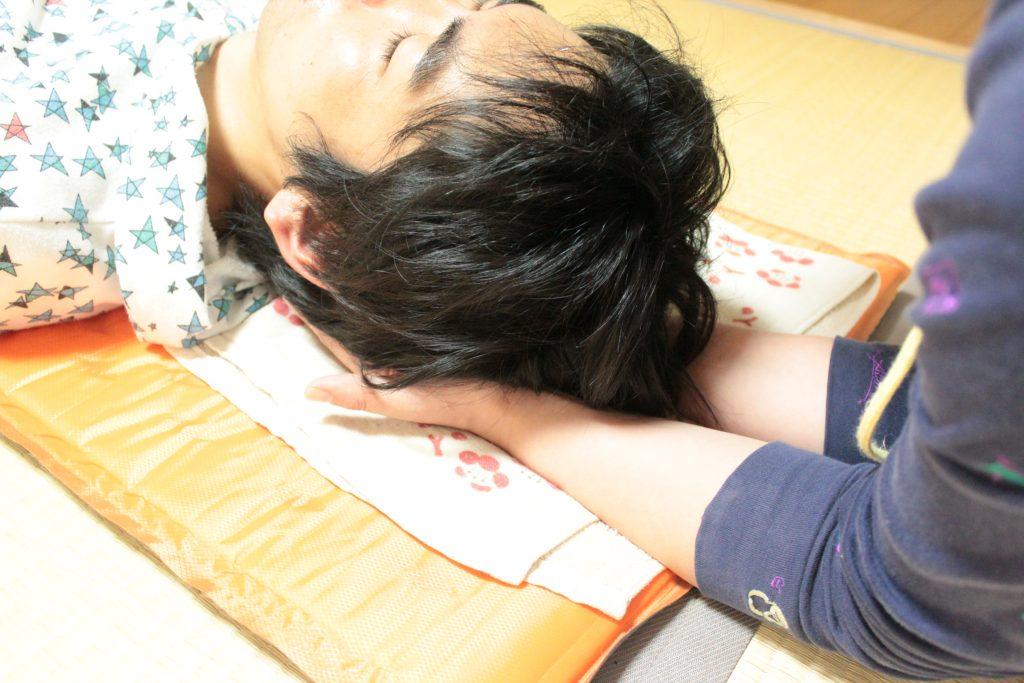 後頭骨静圧法